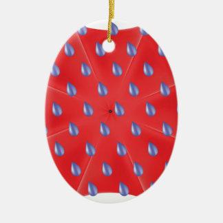 Ornamento De Cerâmica guarda-chuva vermelho