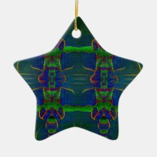 Ornamento De Cerâmica Guardas psicadélicos