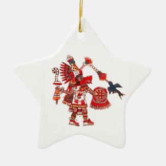 Ornamento De Cerâmica Guerreiro asteca do shaman da dança