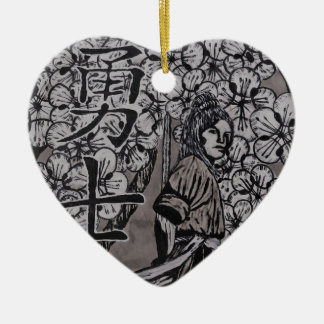 Ornamento De Cerâmica Guerreiro da flor de cerejeira por Carter L