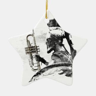 Ornamento De Cerâmica Guerreiro da trombeta