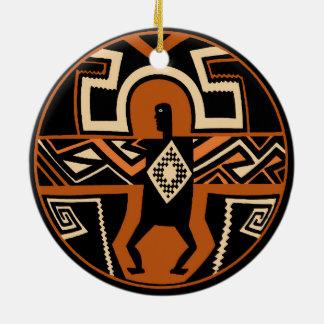 Ornamento De Cerâmica Guerreiro de Mimbres