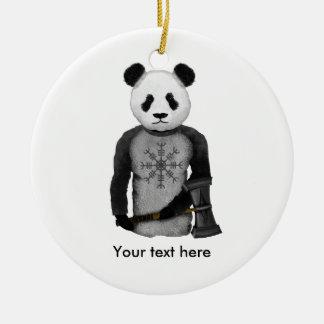 Ornamento De Cerâmica Guerreiro de Viking da panda