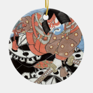 Ornamento De Cerâmica Guerreiro japonês do vintage do samurai