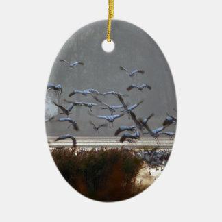 Ornamento De Cerâmica Guindastes do vôo
