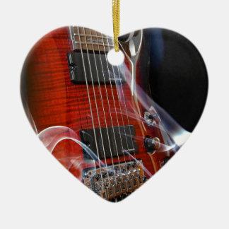 Ornamento De Cerâmica Guitarra da Sete-Corda das cordas da guitarra oito