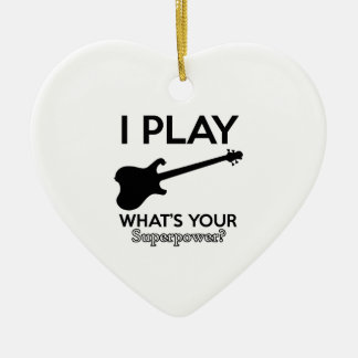 Ornamento De Cerâmica guitarra legal elétrica