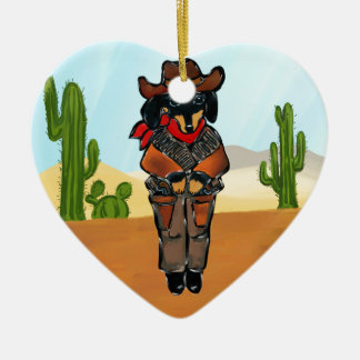 Ornamento De Cerâmica Gunslinger de Doxie