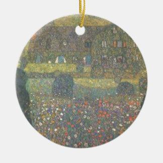 Ornamento De Cerâmica Gustavo Klimt - casa de campo pela arte de