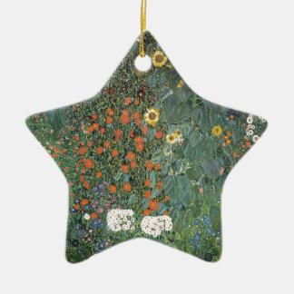 Ornamento De Cerâmica Gustavo Klimt - flores dos girassóis do jardim do