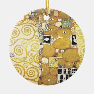 Ornamento De Cerâmica Gustavo Klimt - o abraço - trabalhos de arte