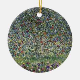Ornamento De Cerâmica Gustavo Klimt - pintura da árvore de Apple