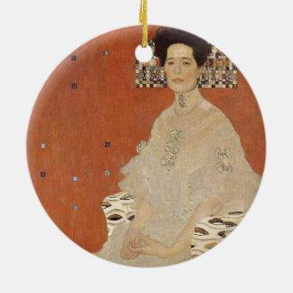 Ornamento De Cerâmica GUSTAVO KLIMT - Retrato de Fritza Riedler 1906