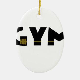 Ornamento De Cerâmica Gym e malhação