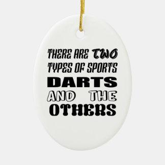 Ornamento De Cerâmica Há dois tipos de dardos e de outro dos esportes