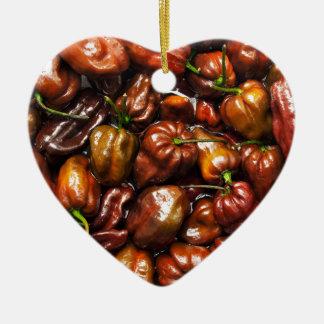 Ornamento De Cerâmica Habanero do chocolate