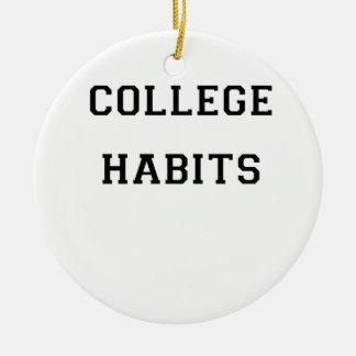 Ornamento De Cerâmica Hábitos da faculdade