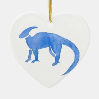 Ornamento De Cerâmica Hadrosaur azul