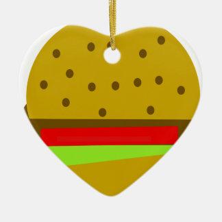 Ornamento De Cerâmica Hamburguer do fast food da comida do Hamburger