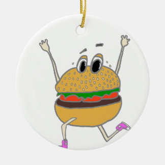 Ornamento De Cerâmica hamburguer running