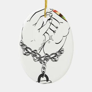Ornamento De Cerâmica Hamburguer saboroso grande e Hands2