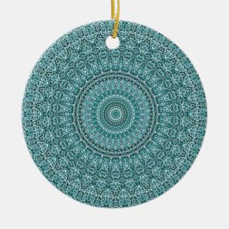 Ornamento De Cerâmica HAMbyWG - mandala na turquesa