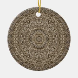 Ornamento De Cerâmica HAMbyWG - mandala no tan