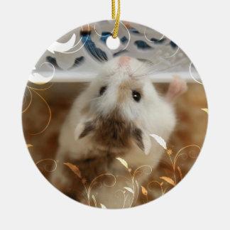Ornamento De Cerâmica Hammyville - hamster bonito