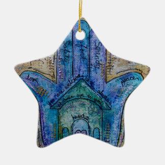 Ornamento De Cerâmica Hamsa Home