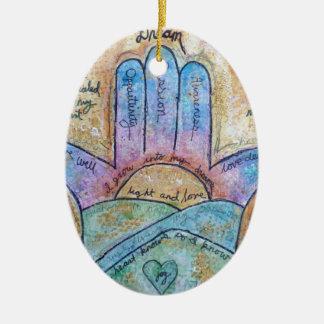 Ornamento De Cerâmica Hamsa ideal