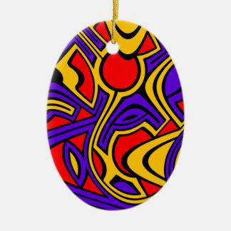 Ornamento De Cerâmica Harlequin