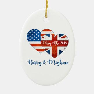 Ornamento De Cerâmica Harry & casamento de Meghan, o 19 de maio de 2018