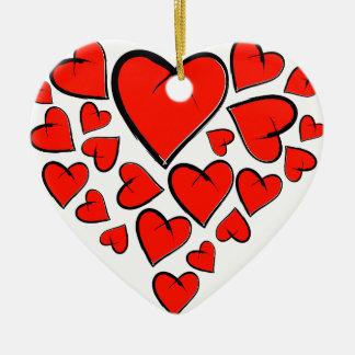 Ornamento De Cerâmica Heartinella - corações do vôo