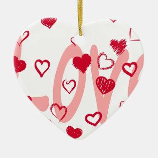 Ornamento De Cerâmica hearts2