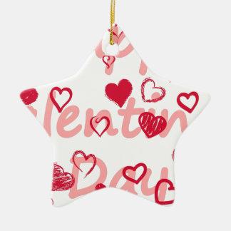Ornamento De Cerâmica hearts3