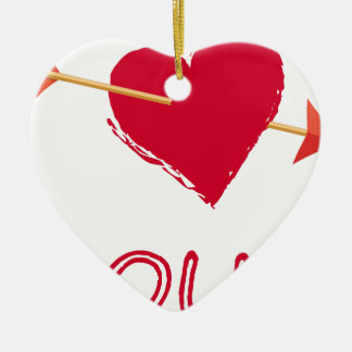 Ornamento De Cerâmica hearts4