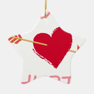 Ornamento De Cerâmica hearts6
