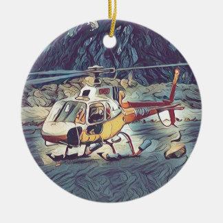Ornamento De Cerâmica Helicóptero artístico legal