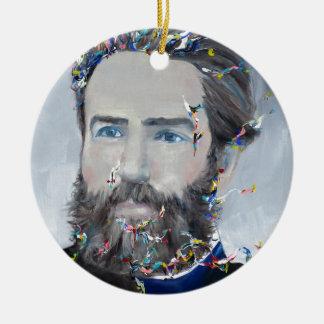 Ornamento De Cerâmica Herman Melville - retrato do óleo