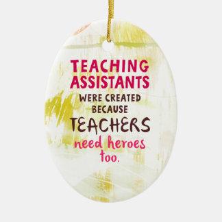 Ornamento De Cerâmica heróis da necessidade 870.teachers