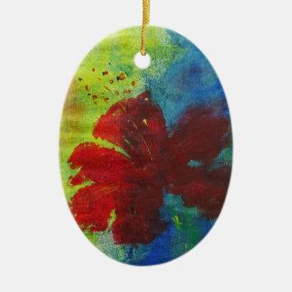 Ornamento De Cerâmica hibiscus