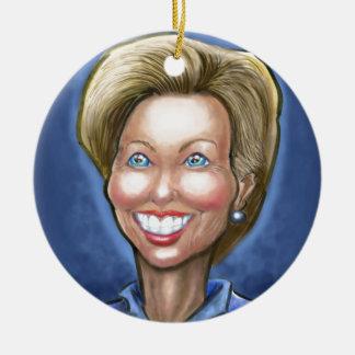 Ornamento De Cerâmica Hillary Clinton
