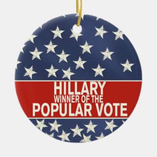 Ornamento De Cerâmica Hillary, vencedor do voto popular!