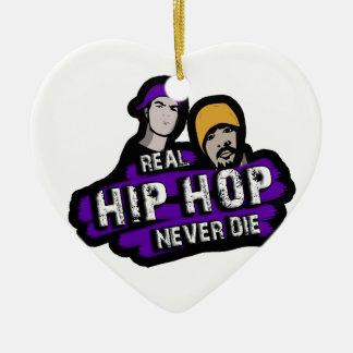 Ornamento De Cerâmica Hip Hop real nunca morre