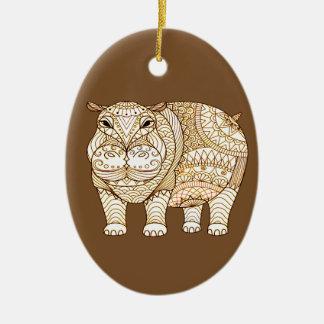 Ornamento De Cerâmica Hipopótamo