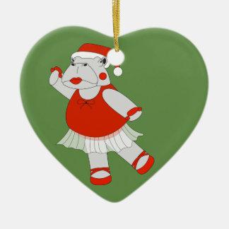 Ornamento De Cerâmica Hipopótamo da bailarina - Special do Natal