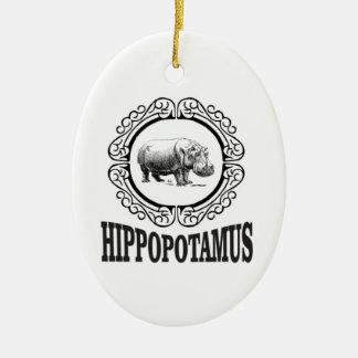 Ornamento De Cerâmica Hipopótamo quadro