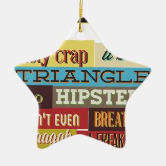 Ornamento De Cerâmica hipster e respiração do triângulo
