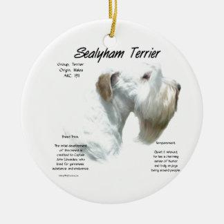 Ornamento De Cerâmica História de Sealyham Terrier