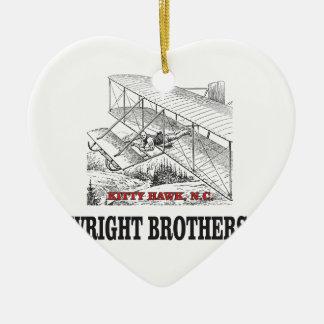 Ornamento De Cerâmica história do irmão de wright